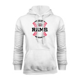 White Fleece Hoodie-Baseball Seams