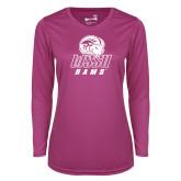Ladies Syntrel Performance Raspberry Longsleeve Shirt-WSSU Rams