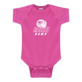Fuchsia Infant Onesie-WSSU Rams