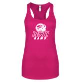 Next Level Ladies Raspberry Ideal Racerback Tank-WSSU Rams
