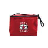 Six Pack Red Cooler-Stacked WSSU Rams