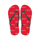 Ladies Full Color Flip Flops-Ram WSSU