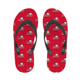 Ladies Full Color Flip Flops-WSSU Rams