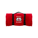 Red Arctic Fleece Blanket-Stacked WSSU Rams