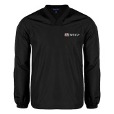 V Neck Black Raglan Windshirt-Ram WSSU
