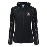 Columbia Ladies Sweet As Softshell Black Jacket-Stacked WSSU Rams
