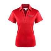 Ladies Red Performance Fine Jacquard Polo-Ram WSSU