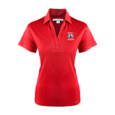 Ladies Red Performance Fine Jacquard Polo-Stacked WSSU Rams