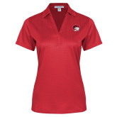 Ladies Red Performance Fine Jacquard Polo-Ram Head