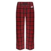 Red/Black Flannel Pajama Pant-Ram Head