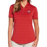 Ladies Callaway Horizontal Textured Deep Red Polo-WSSU Rams