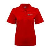 Ladies Easycare Red Pique Polo-Ram WSSU