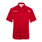 Columbia Tamiami Performance Red Short Sleeve Shirt-Ram WSSU