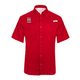 Columbia Tamiami Performance Red Short Sleeve Shirt-Stacked WSSU Rams