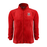 Fleece Full Zip Red Jacket-Stacked WSSU Rams