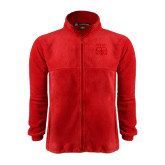 Fleece Full Zip Red Jacket-WSSU Ram