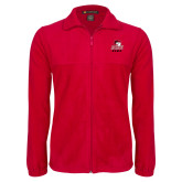 Fleece Full Zip Red Jacket-WSSU Rams