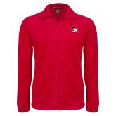 Fleece Full Zip Red Jacket-Ram Head