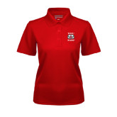 Ladies Red Dry Mesh Polo-Stacked WSSU Rams