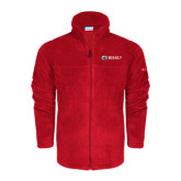 Columbia Full Zip Red Fleece Jacket-Ram WSSU