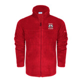 Columbia Full Zip Red Fleece Jacket-Stacked WSSU Rams