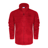 Columbia Full Zip Red Fleece Jacket-WSSU Ram