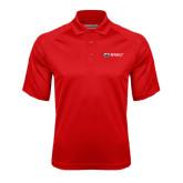 Red Textured Saddle Shoulder Polo-Ram WSSU