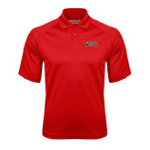 Red Textured Saddle Shoulder Polo-Arched WSSU