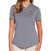 Ladies Callaway Horizontal Textured Steel Grey Polo-WSSU Rams
