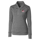 Ladies Cutter & Buck Shoreline Charcoal 1/2 Zip-WSSU Rams