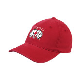 Red OttoFlex Unstructured Low Profile Hat-WSSU Ram