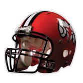 Football Helmet Magnet-Red Football Helmet