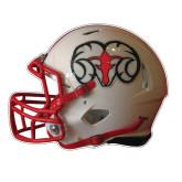 Football Helmet Magnet-White Football Helmet