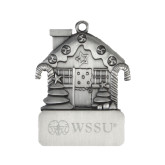 Pewter House Ornament-Ram WSSU Engraved