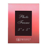 Pink Brushed Aluminum 3 x 5 Photo Frame-Ram WSSU Engraved