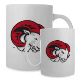 Full Color White Mug 15oz-Ram Head
