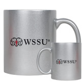 Full Color Silver Metallic Mug 11oz-Ram WSSU