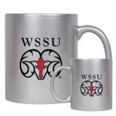 Full Color Silver Metallic Mug 11oz-WSSU Ram