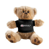 Plush Big Paw 8 1/2 inch Brown Bear w/Black Shirt-Ram WSSU