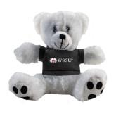 Plush Big Paw 8 1/2 inch White Bear w/Black Shirt-Ram WSSU