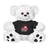 Plush Big Paw 8 1/2 inch White Bear w/Black Shirt-WSSU Rams