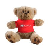 Plush Big Paw 8 1/2 inch Brown Bear w/Red Shirt-Ram WSSU