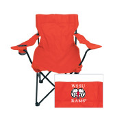 Deluxe Red Captains Chair-Stacked WSSU Rams