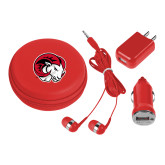 3 in 1 Red Audio Travel Kit-Ram Head