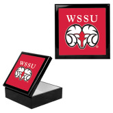 Ebony Black Accessory Box With 6 x 6 Tile-WSSU Ram