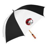62 Inch Black/White Vented Umbrella-Ram Head