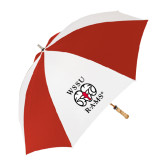 62 Inch Red/White Vented Umbrella-Stacked WSSU Rams
