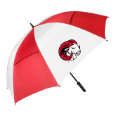 62 Inch Red/White Vented Umbrella-Ram Head
