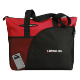 Excel Red Sport Utility Tote-Wipaire Inc