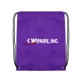 Purple Drawstring Backpack-Wipaire Inc